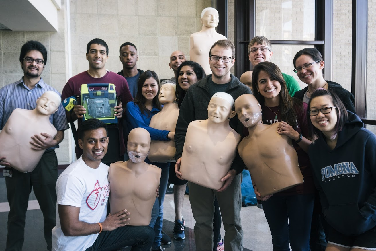 Students at Texas A&M Health Science Center College of Medicine trained 281 people in hands-only CPR during the Texas Two Step. (Photo by Jessica Nguyen)