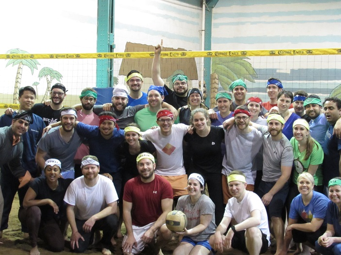 "The University of Rochester's EM Residency Program celebrated by hosting an indoor volleyball tournament, because ""EM residents are the best!"""