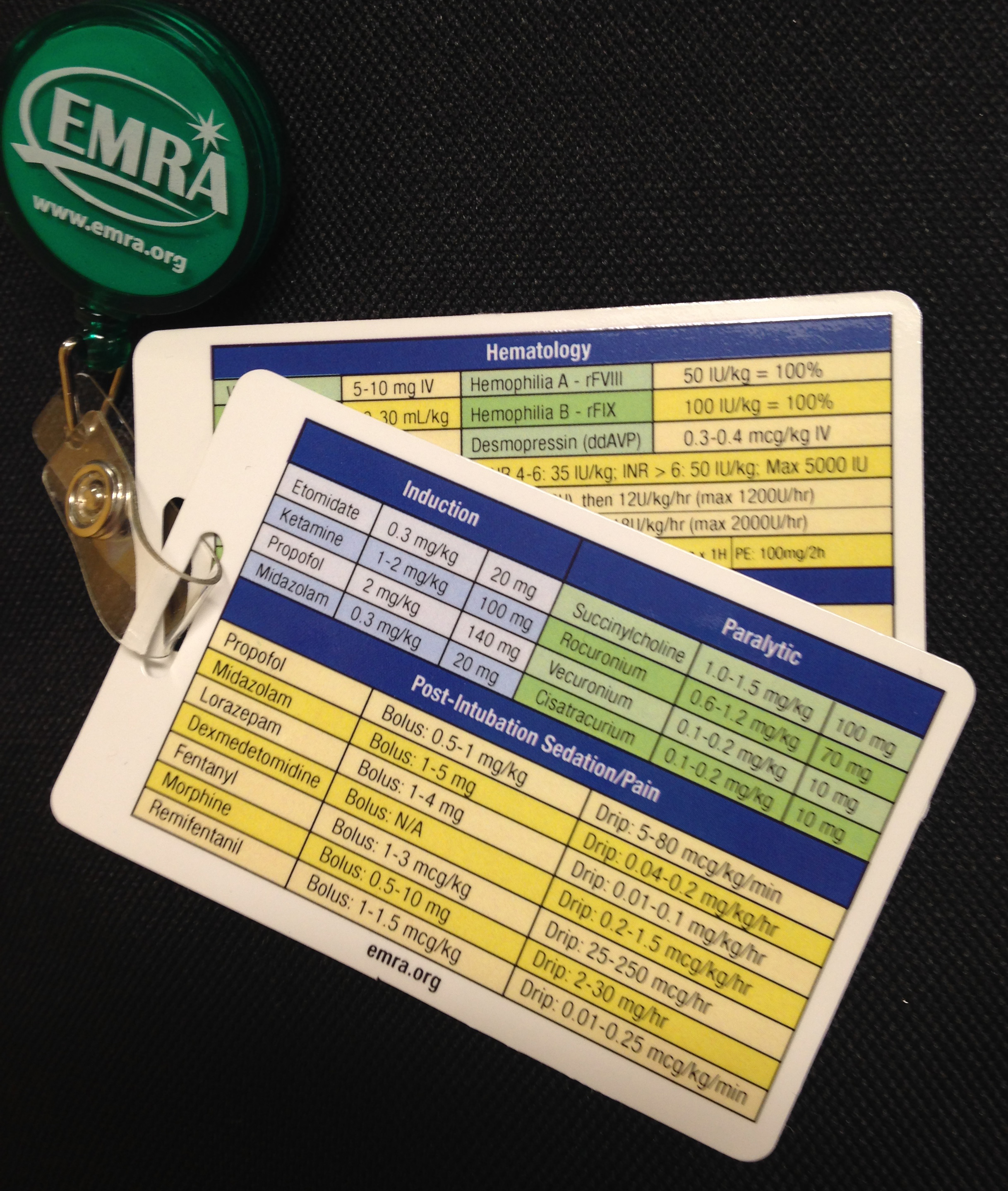 picture regarding Printable Nursing Reference Cards referred to as EMRA Reference Playing cards EMRA